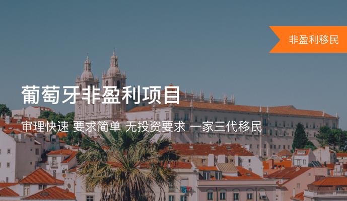 葡萄牙非盈利项目(Passive Income D7 Visa)