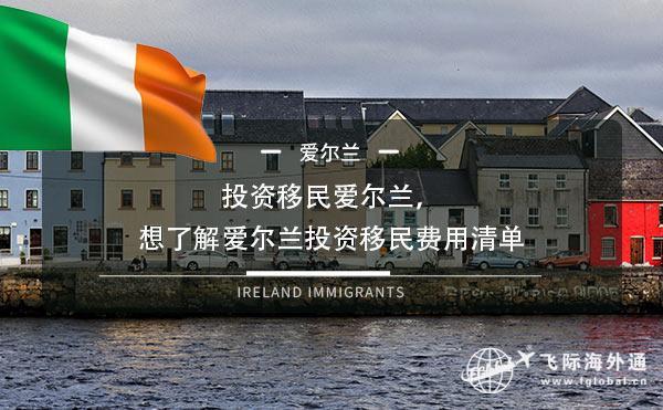 投资移民爱尔兰,想了解爱尔兰投资移民费用清单